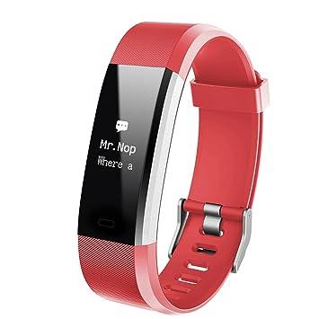 HOTSO Montre Connectée Fréquence Cardiaque Suivre de Qualité de Sommeil Fitness Tracker Podomètre,Calories,