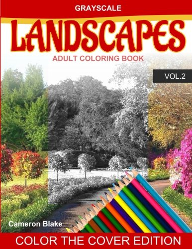 Grayscale Landscapes Adult Coloring Book Vol 2 Grayscale