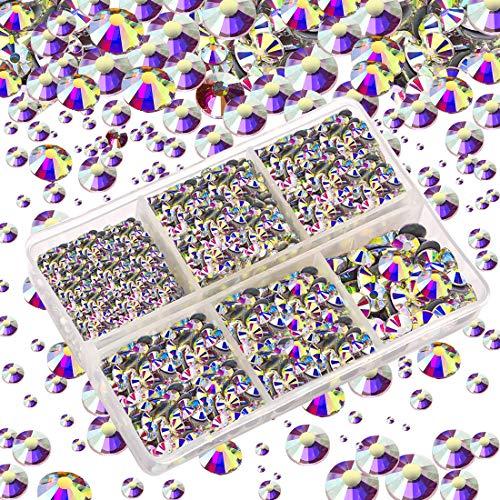 Aurora Borealis Crystal - LANBEIDE 4000 Pieces Mixed Size Round