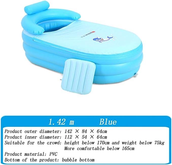 Amazon.com: Bañera inflable, bañera plegable portátil para ...