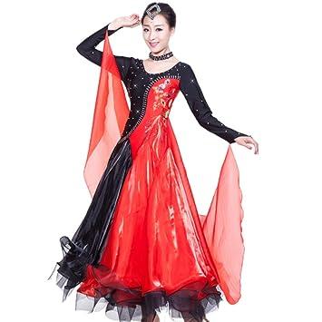 MoLiYanZi Vestido de Baile de Salón para Mujer Traje de ...