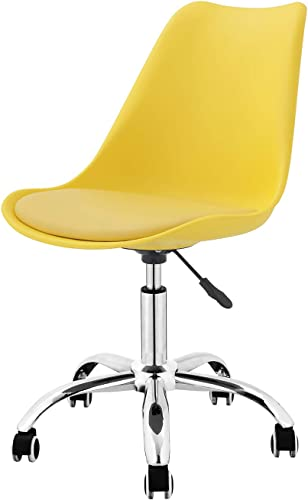 ME2 Modern Adjustable Mid-Back Armless Swivel Chair – rgonomic Computer Office Chair, Yellow