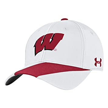 hot sale online e606c d5f45 ... NCAA Wisconsin Badgers Mens Under Armour Mens Renegade Accent Hat,  White, One Size ...