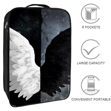 BennigiryA Good and Evil Angel Wings Bolsa de Zapatos de ...