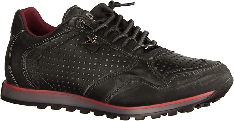 Cetti C-848 Nature Tin Antracita/Rojo (gris) - Zapatillas de piel para hombre, color gris