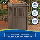 Suncast 33 Gallon Hideaway Can Resin Outdoor Trash