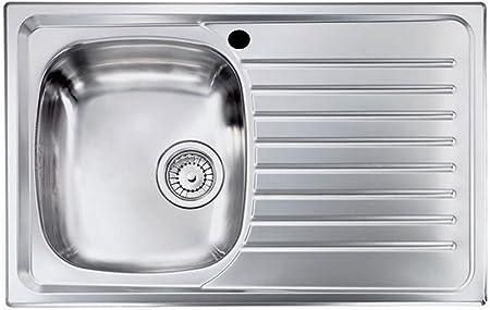 Lavello da incasso in acciaio L 76 cm vasca a sinistra compra dal produttore!