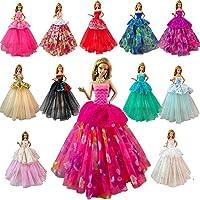 Barwa Lot 7 Pcs Doll Dresses Handmade Fashion Wedding...