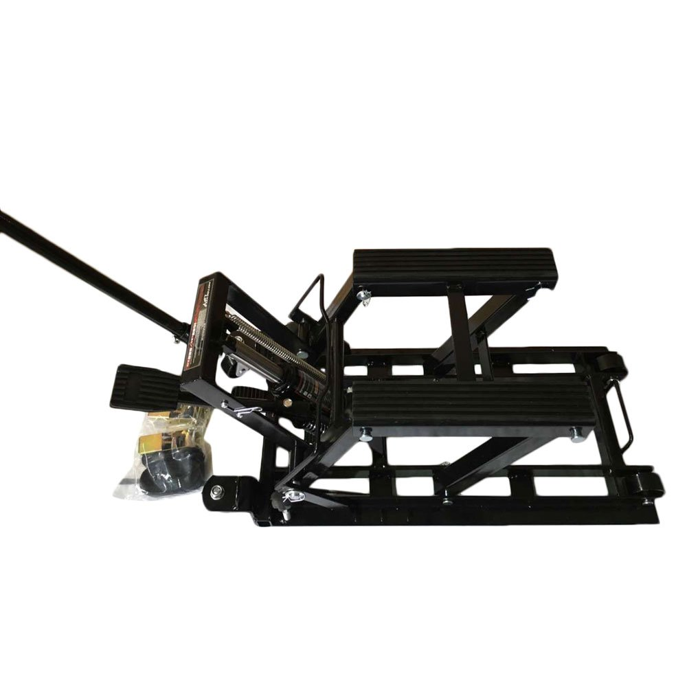 MILLION PARTS 1500 LB Hydraulic Motorcycle/ATV Hoist Jacks Lift Stand Quad Dirt Street Bike Hoist Up to 17'' High Black