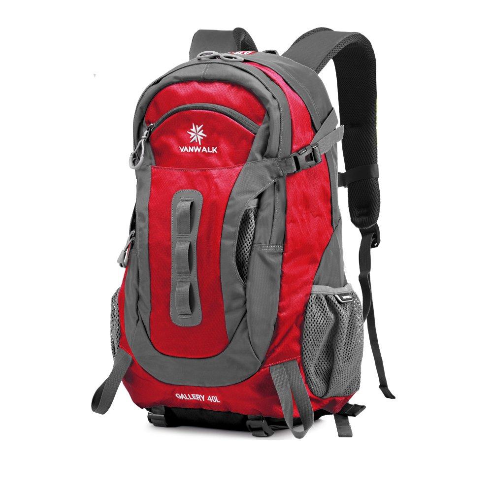 m-cornerユニセックス品質ナイロンバッグ学校バックパックハイキングメンズブラックブルー  レッド B0153LL3J2