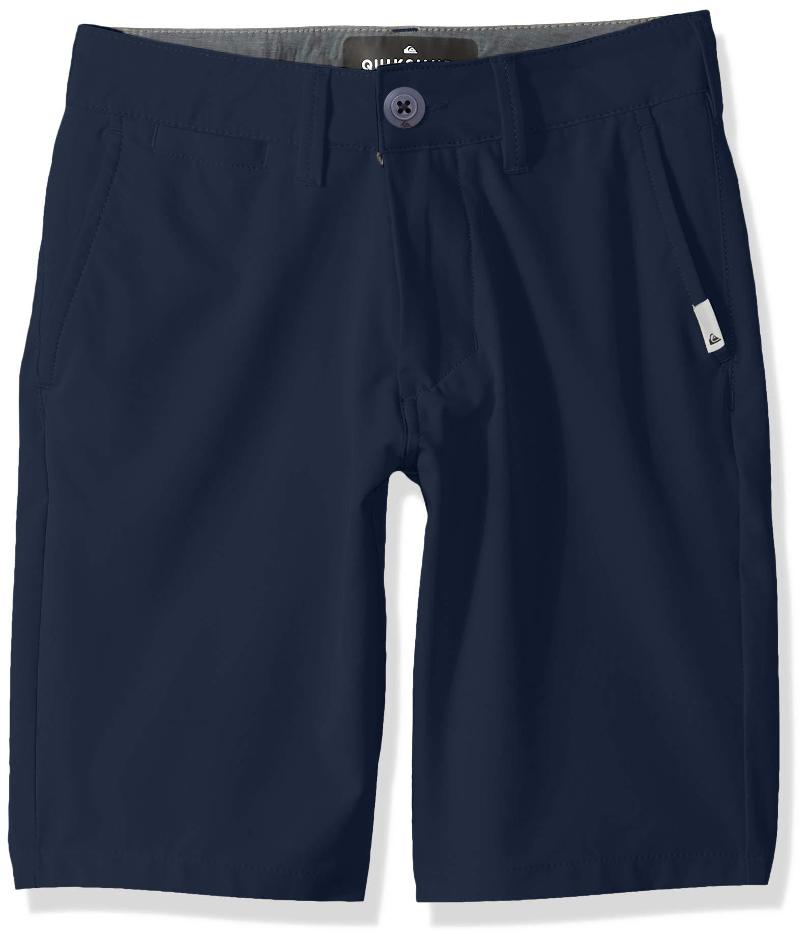 Quiksilver Boys' Big Union Amphibian Youth 19 Hybrid Short, Navy Blazer 25/10