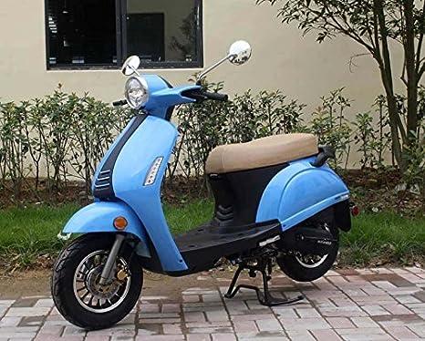 CRT 50 cc Gas ciclomotor scooter motocicleta adulto azul: Amazon.es: Deportes y aire libre