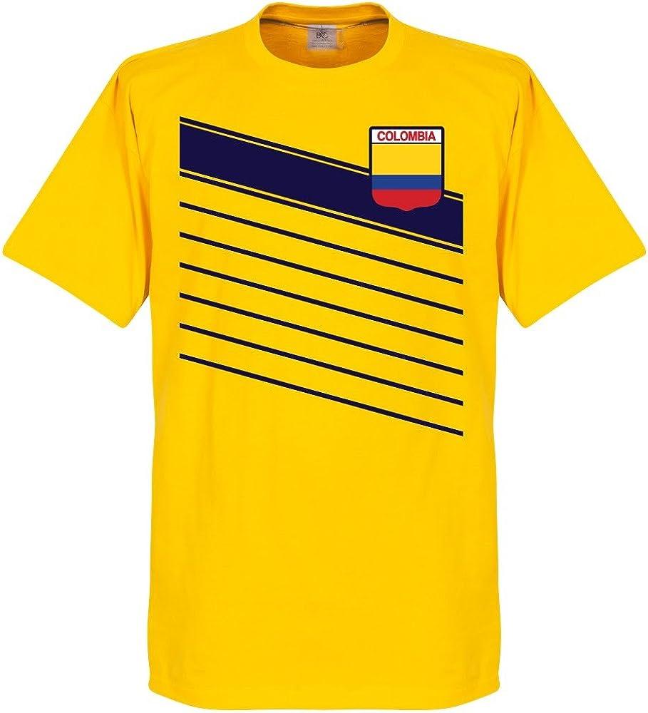 Retake Colombia James 10 Team – Camiseta – Amarillo Amarillo Talla:Small: Amazon.es: Deportes y aire libre