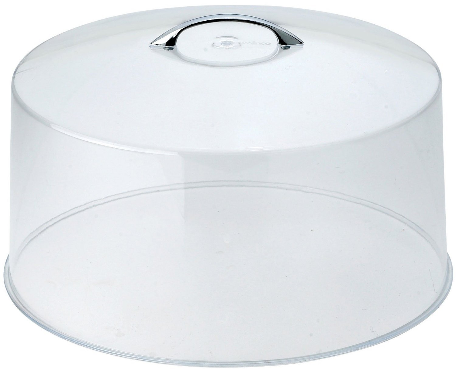 12'', Clear Acrylic, Gloss Handle, Cake Stand Cover