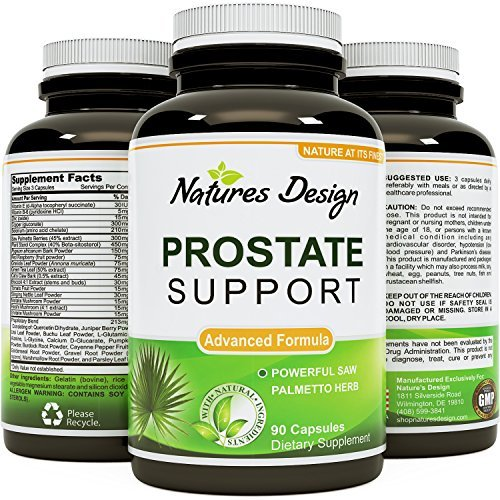 All Natural Prostate Support Health Supplement Pure Extract Pills Best Formula Saw Palmetto Extract Capsules Plant Sterol Complex - Urinary System Boost Vitamins Hair Growth for Men by Natures Craft (Best Natural Prostate Pills)