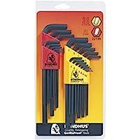 """Bondhus 22199 Hex L-wrench DoublePK,Long Length,12137 .050-3/8"""" & 12199 1.5-10mm, Multicolor, One Size"""