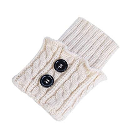 PoeHXtyy 1 Pares de Mujeres de Invierno Calentadores de piernas Calientes Botas Cortas Calcetines Calcetines de