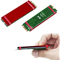 2 Pack M.2 NVMe NGFF SSD Heatsinks Laptop PC Memory Cooling Fin-Red