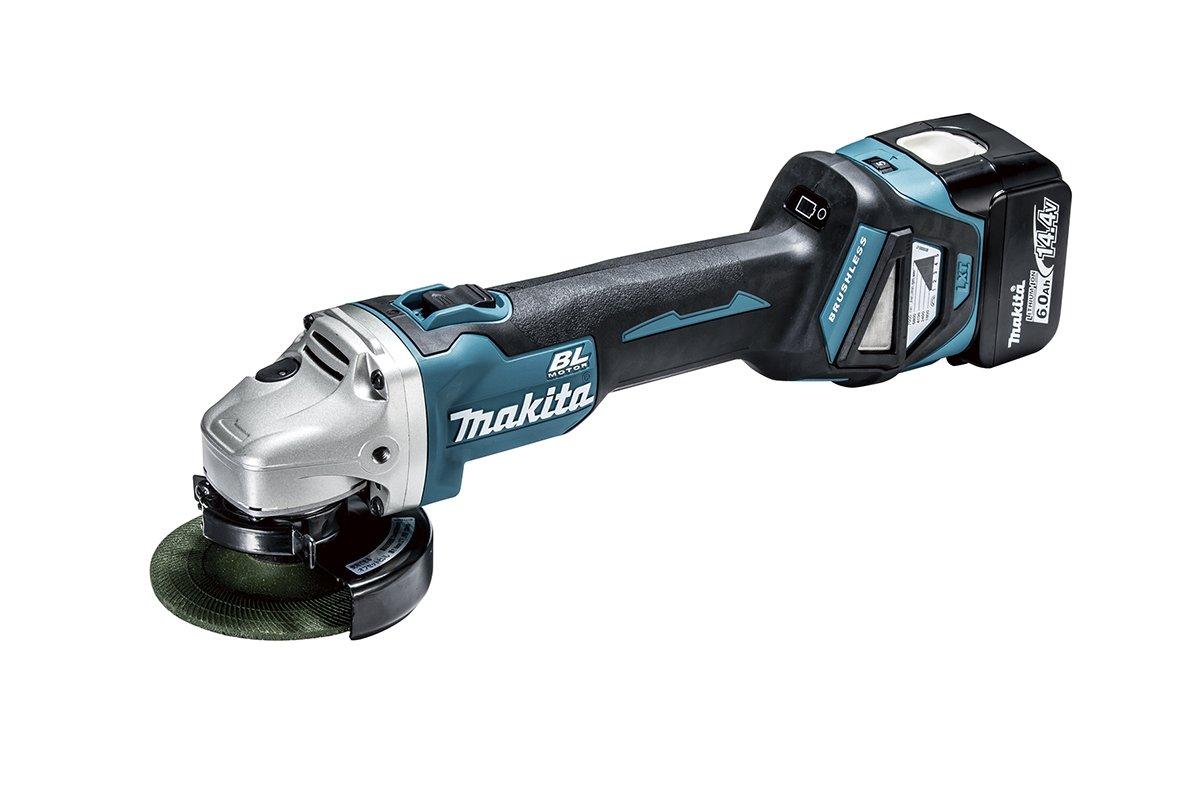 マキタ(makita) 100ミリ充電式ディスクグラインダ  14.4V 6Ah バッテリ・充電器・ケース付 GA410DRG