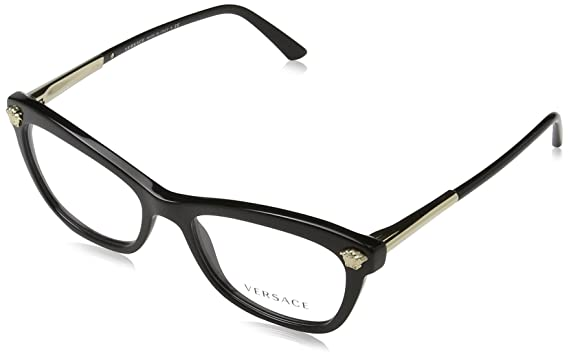 6a39a4b38e2 Image Unavailable. Image not available for. Color  Versace Women s VE3224  Eyeglasses Black 52mm