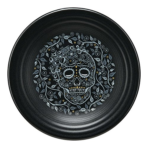 Fiesta Chip-Resistant Haunting Halloween Durable Plate Collection (Skull and Vine) ()