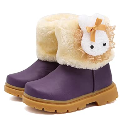 ff1870a412a47 CIOR Fantiny Snow Boots Baby Girls Infant Toddler Winter Fur Rabbit Shoes( Toddler Little