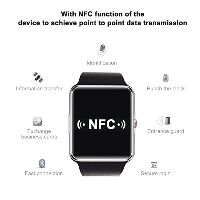 Amazon.com: Sunflower GT08 reloj Inteligente Bluetooth Smart Watch for iPhone 6/puls/5S Samsung S4/Note 3 HTC Android Phone Smartphones Android Wear ...