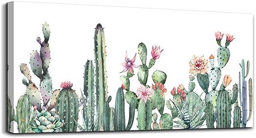 Amazon Com Canvas Art Simple Life Green Cactus Desert Plant
