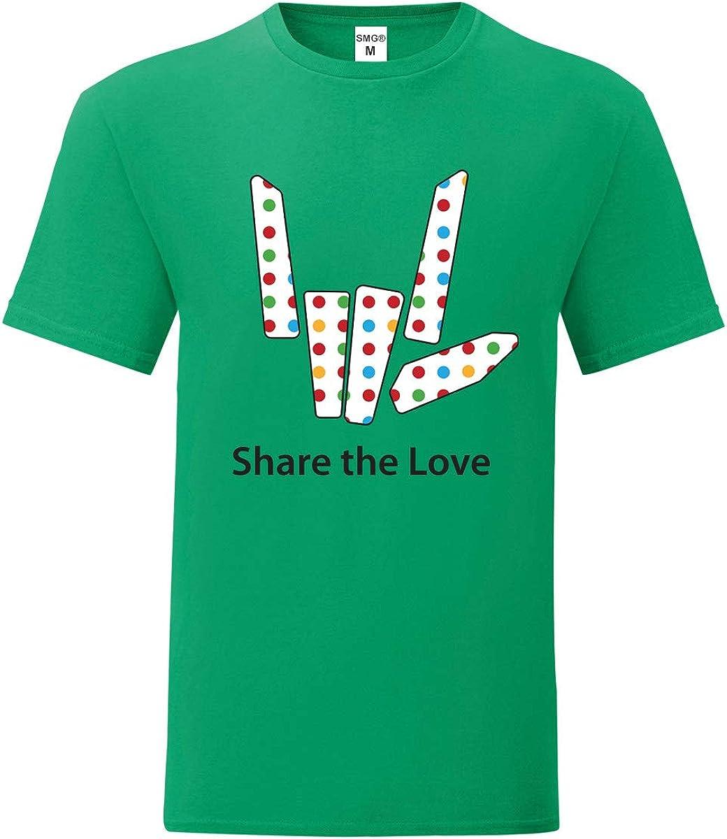 3-13 Years Unisex Boys Girls Share The Love Logo Short Sleeved Cotton Top T-Shirt