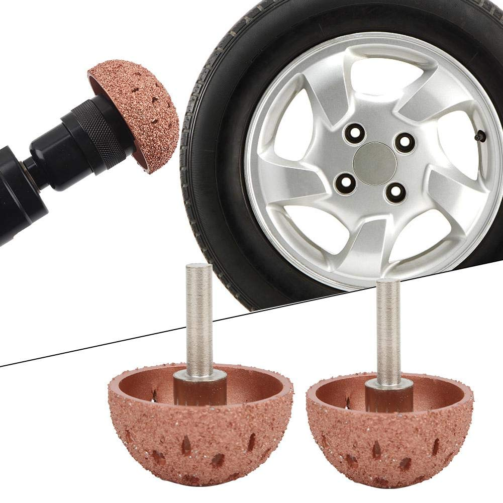 2PCs Buffing Wheels of Different Sizes Tungsten Steel Bowl Type Tire Repair Grinding Head Rotary Tools with 6mm Shank