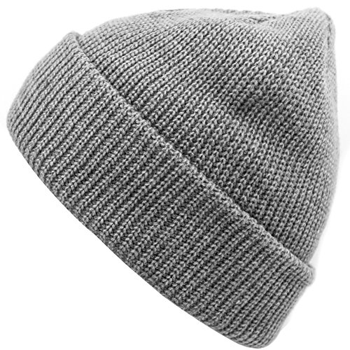 Stretch Mens Beanie (Unisex Beanie Cap Fashion Warm Winter Hats Soft Stretch Skull Caps for Ski grey)