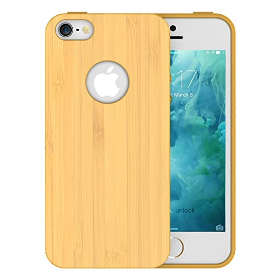official photos 8c432 77153 Amazon.com: iPhone SE Case,Slicoo® Wood / Bamboo Cover Protective ...