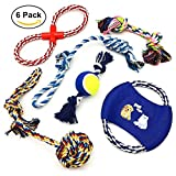 ANICOR Dog Toys Rope For Large Small Dogs Toys Pack Durable Puppy Chew Toys Teething Pet Toys Pack Gift 6 Set (Multi-color)