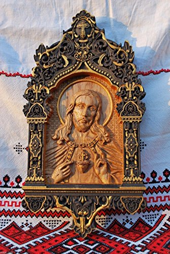 Religious gift Sacred Heart of Jesus Wood Carvings religious