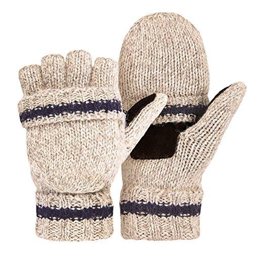 OMECHY Winter Unisex Wool Knitte...