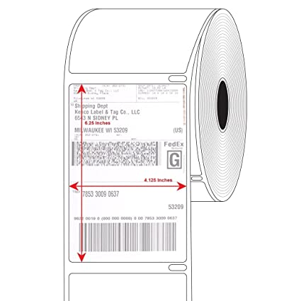 amazon com products 4x6 direct thermal printing white self