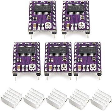 Leepesx 5 piezas piezas de impresora 3D Stepstick DRV8825 ...