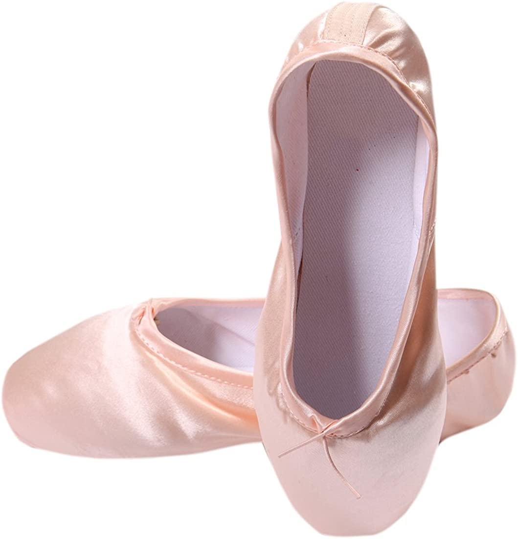 DoGeek Ballet Pointe Shoes Satin Ballet Shoes for Grirls//Womens//Ladies with Toe Pads Ballet Ribbon and Pointe Shoe Elastic