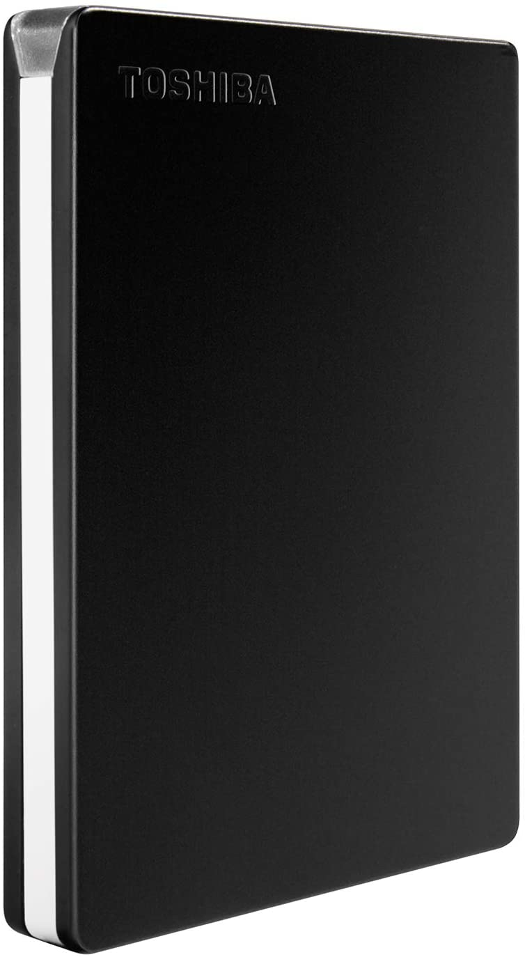 Toshiba Canvio Slim 2TB Portable External Hard Drive USB 3.0, Black (HDTD320XK3EA)