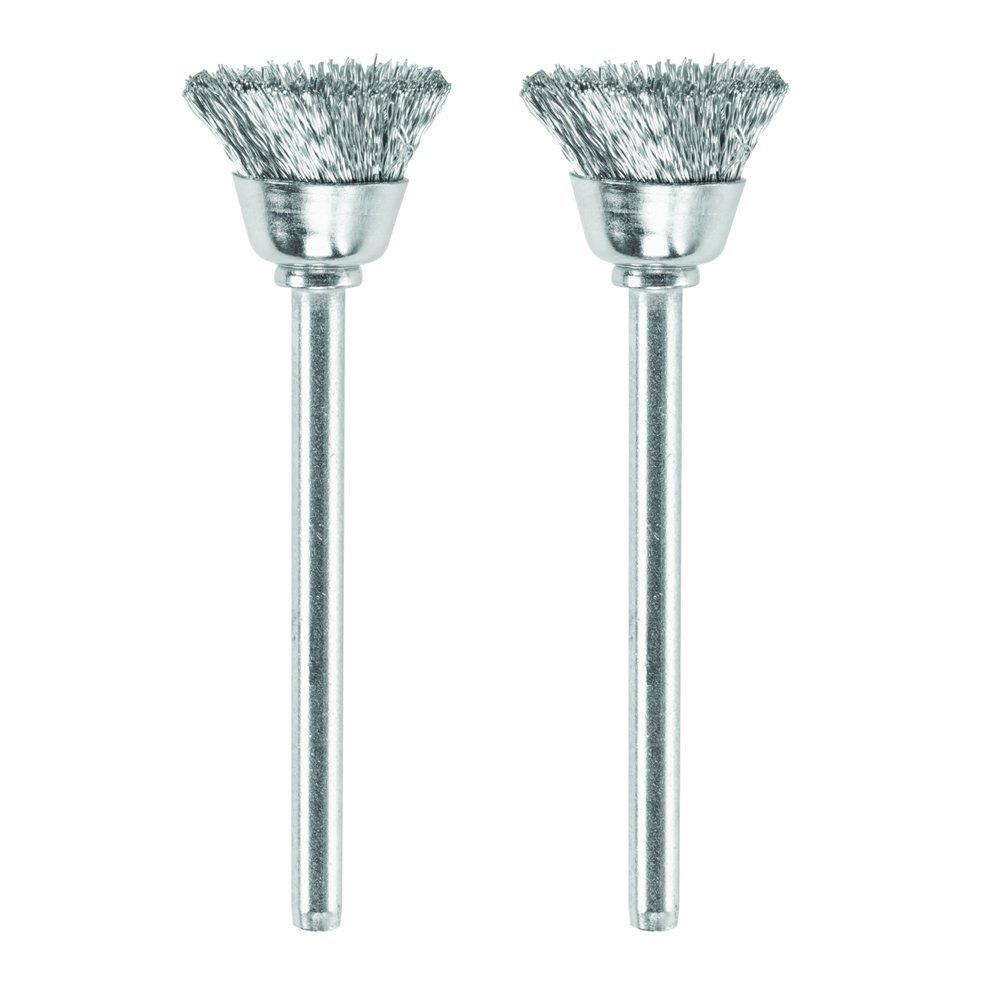 2-Pk 442-02 1//2-In. DREMEL MFG CO Carbon Steel Brushes