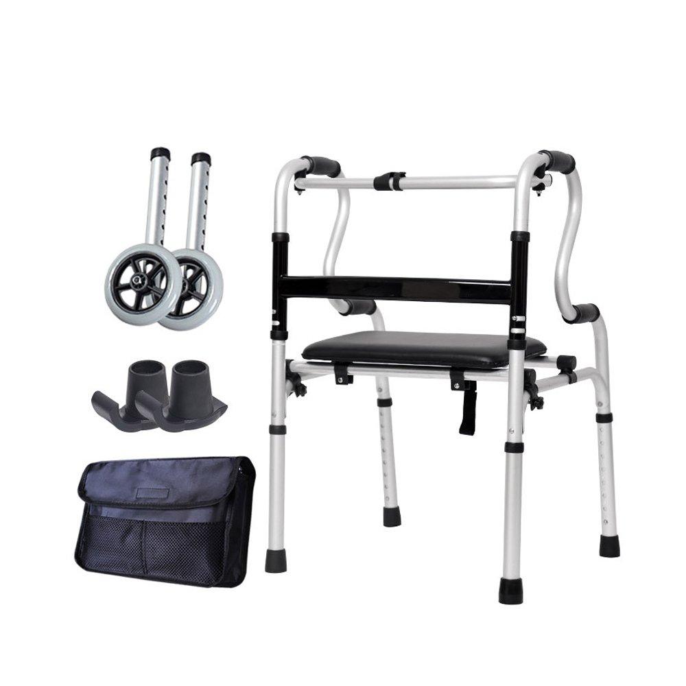トイレシート 歩いている助手席の高齢者アルミニウム合金製のベルトホイール4フィートの松葉杖はバスチェアを使用できません (色 : B) B07D8JN8ML  B