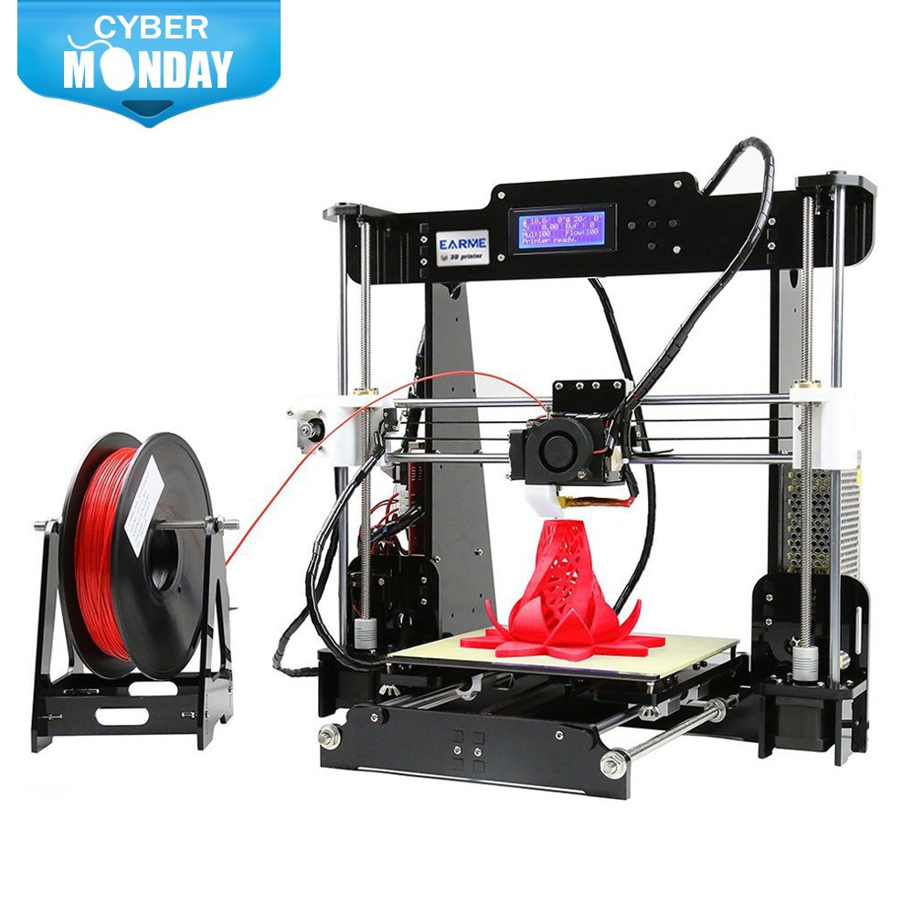 EarMe Anet A8 3D Desktop Acrylic LCD Screen Printer Prusa i3 DIY High Accuracy Self Assembly(Not included Filament) by EARME