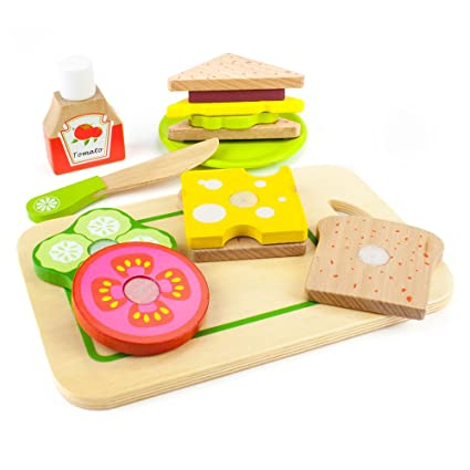 Amazoncom Wood Eats Super Sandwich Set By Imagination Generation