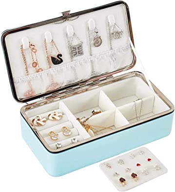 3 Layer Jewelry Necklace Ring Storage Box Case Lady Gift Organizer Home Supply S