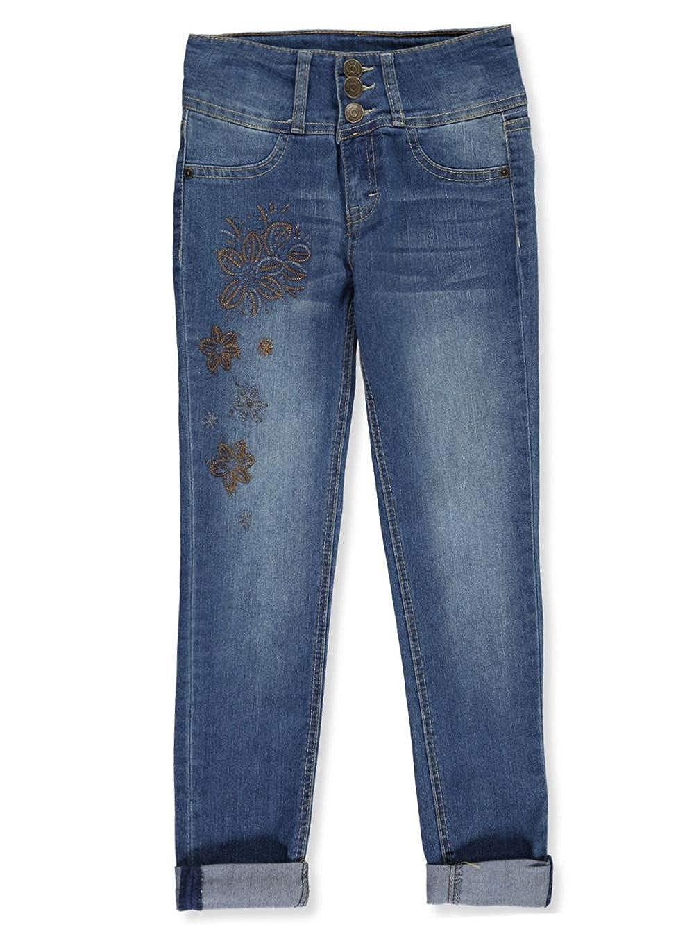 LEE Girls Sequined Flower High Waist Skinny Jeans