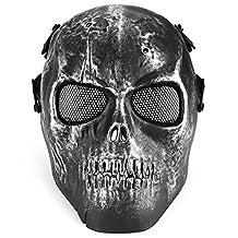 TecGeo(TM) Outdoor Skull Skeleton Full Covered Party Masks Airsoft Paintball BB Gun CS Full Face Protection Mask Sports Shot Helmets
