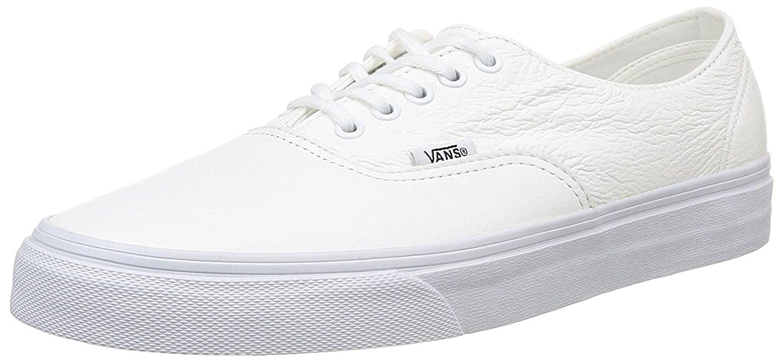3a23c8bb75 Vans U Authentic Decon White Leather Unisex Skate Trainers -12   Amazon.co.uk  Shoes   Bags