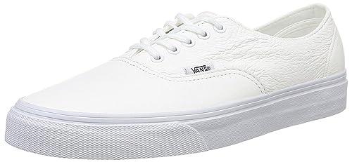 494e97de09 Vans U Authentic Decon White Leather Unisex Skate Trainers -12 ...