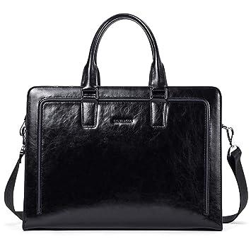 4a1d4c072547 BOSTANTEN Women Genuine Leather Briefcase Tote Business Vintage Handbag  15.6