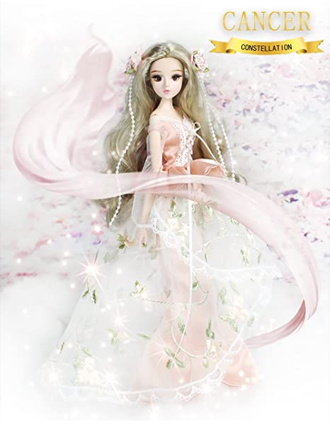 84e46c45729 Amazon.com: fortune days Mystery Magic Girl BJD doll 12 inch Twelve  constellation series doll (CANCER): Toys & Games